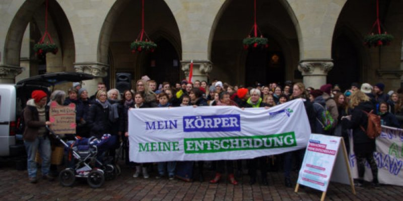 Gruppenfoto der Demonstration