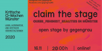 claim the stage - open stage by gegengrau